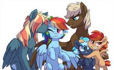 NG: Rainbow Dash's family by Lopoddity ***please hit the links to visit the artist page and view more of their art remember to leave some feedback and show your support. My Little Pony Drawing, Mlp My Little Pony, My Little Pony Friendship, Rainbow Dash, Kilala97, Little Poni, Mlp Fan Art, Mlp Pony, Twilight Sparkle