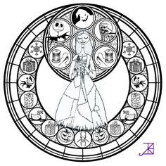 Sally Stained Glass -line art- by Akili-Amethyst.deviantart.com on @deviantART