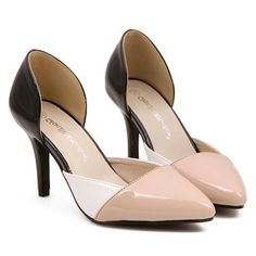 $13.70 Fashionable Women's Pumps With Pointed Toe and Color Block Design