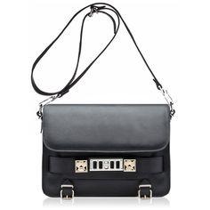 PROENZA SCHOULER PS11 Classic New Lamm Black (3.965 BRL) ❤ liked on Polyvore featuring bags, handbags, shoulder bags, borse, bolsas, bolsos, purses, leather handbags, handbags shoulder bags and man leather shoulder bag