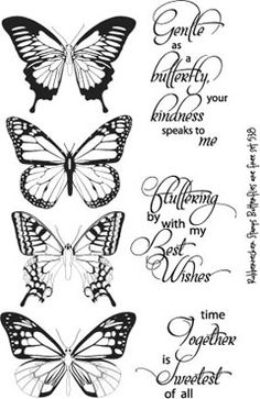 Butterflies are Free set by Rubbernecker.  Good prices! Nice stamps! Purchase $25 and get a free stamp
