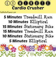 60 Minute Cardio Crusher...I get bored easily, maybe this would help!!