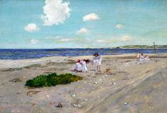"""Shell Beach at Shinnecock,"" William Merritt Chase, 1892, oil on canvas, Gilcrease Museum."