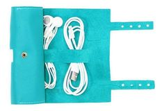 Leather Cordito Cord Wrap, Turquoise