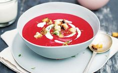 Roast beetroot and tomato soup with caraway seeds, The Brother Hubbard Cookbook Tomato Soup Recipes, Delicious Deserts, Caraway Seeds, Irish Recipes, Beetroot, Soups And Stews, Vegan Vegetarian, Breakfast Recipes, Curry