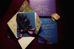 Are these not the richest, most beautiful invitations you have seen?!