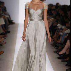 Grey wedding gown...