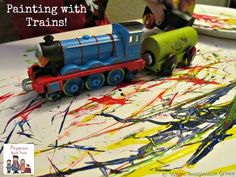 Kids Art Projects: Train Paintings (Virtual Book Club) - Where Imagination Grows