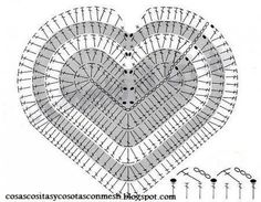 Solo esquemas y diseños de crochet: OTRO CORAZON!!!!