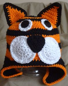 Hey, I found this really awesome Etsy listing at https://www.etsy.com/listing/118560033/tristan-the-tiger-crochet-hat