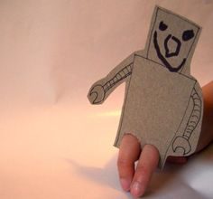 I'd forgotten about these... Fun!  card board finger puppet