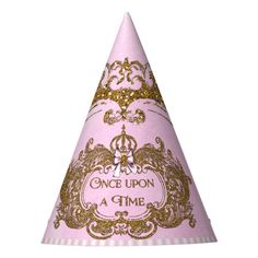 Once Upon a Time Princess Birthday 12 party hats - Once Upon a Time Princess Birthday 12 party hats    Princess birthday party hats with pretty pink and gold once upon a time stylized text on a pretty pink and gold background. Gender: unisex. Age Group: adult.  #birthday #decoration #love #decor #party #interiordesign #happybirthday #homedecor #happy #design #birthdaygirl #interior #family #art #photography #home #hiphop #architecture #instagood #interiors #food #designer #music #fun #homedesig Pink Gold Party, Gold Birthday Party, Birthday Party For Teens, Kids Birthday Party Invitations, Sleepover Party, Pink Birthday, 1st Birthday Girls, Princess Birthday, Birthday Party Decorations