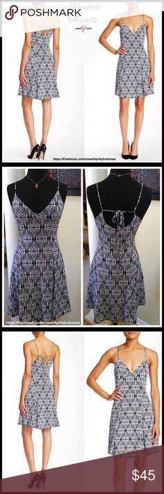"A-LINE Stretch-To-Fit Dress Fit-And-Flare 💟NEW WITH TAGS💟 RETAIL PRICE: $68 SIZING- S= 4-6, M = 8-10, L = 12-14 SLIP DRESS   * Allover boho graphic print  * V-neck; Super soft & stretchy  * Adjustable thin straps w/back tie closure  * A-line; Lined  * Approx 38"" long  * Made in the USA   Material: Polyester & spandex, rayon lining Color: Black & Ivory Item# # Shirt slip dress pastel LBD Little Black tank 🚫No Trades🚫 ✅ Offers Considered*✅ *Please use the blue 'offer' button to submit an…"