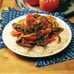 Easy Pepper Steak Recipe -We live on the eastern edge of the Sand Hills here in Nebraska, where most folks are ranchers. This popular beef dish is tasty as well as colorful.