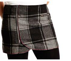 Skhoop Wrap Mini Skirt in Grey Check!