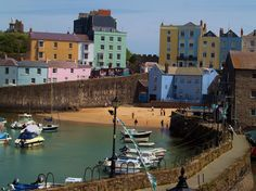 Picture of Harbour Beach in Tenby Pembrokeshire Wales