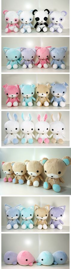 Found a better shot of the armada of cuteness in #plush. These #cute animals will make a great gift. I have a whale and ♥ it.
