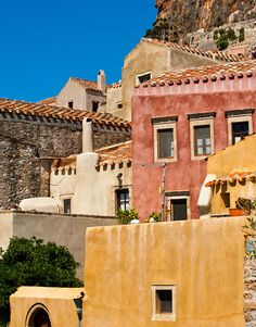 Monemvasia village on the Peloponnese.