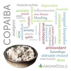 Copaiba (Copaifera officinalis, C. reticulata, C. coriacea, C. langdorffii) essential oil is steam-distilled from oleoresin, a substance made up of resin and essential oils. It has a soft, sweet, b…