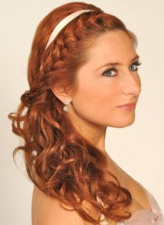 Up-do ideas, like the braid with the ribbon