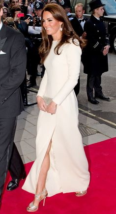 Catherine, Duchess of Cambridge IS WEARING THAT JIMMY CHOO and that DRESS! I've never lusted after  Jimmy until now!!