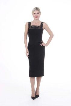 Dolce & Gabbana Women's Dress BLACK #DolceGabbana #Sheath #Evening