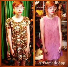 Can't decide which dress to get? Take a cue from this cute customer of the day and get both! #vintage #cutecustomer #happycustomer #allthatjazz #ditsyfloral #rayon #revival #grunge #1980s #1990s #echopark #silverlake #atwater #hollywood #dtla #highlandpark #losfeliz #losangeles #lemonfrogshop