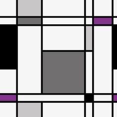 Patrón de cuadros negro, gris y morado