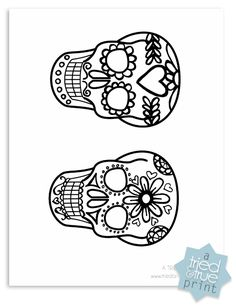 Day of the Dead Shrink Plastic Jewelry - Printable - would be great for embroidery Arts And Crafts, Paper Crafts, Diy Crafts, Plastic Fou, Plastic Bottle, Cuadros Diy, Shrink Plastic Jewelry, Shrink Art, Shrinky Dinks