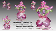 Balloon Art decoration heart flower, Ballon Dekoration Herz Blume Marien...