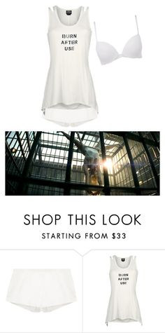 """""""Harley Quinn:Burn After Use"""" by haxan ❤ liked on Polyvore featuring Calvin Klein"""