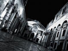 Split, the night. Split. Croatia.