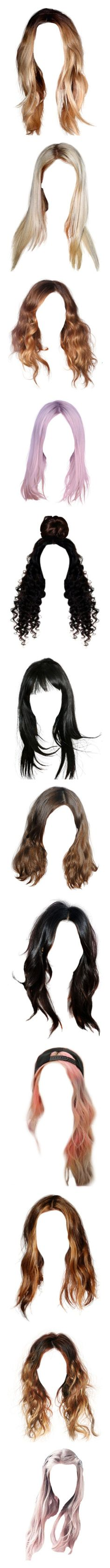 """""""Hair"""" by sara-koivula ❤ liked on Polyvore featuring beauty products, haircare, hair styling tools, hair, blonde hair, wigs, doll parts, hairstyles, doll hair and dolls"""