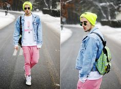 Pink Friday (by Burnt Toast) http://lookbook.nu/look/4506627-Pink-Friday