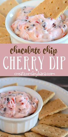 Chocolate Chip Cherry Cheesecake Dip recipe -If you like cherry cheesecake, you will love this Cherry Chocolate Chip Dip! Chocolate Chip Cherry Cheesecake Dip recipe -If you like cherry cheesecake, you will love this Cherry Chocolate Chip Dip! Dessert Party, Bon Dessert, Dessert Dips, Köstliche Desserts, Dessert Recipes, Cherry Cheesecake Dip, Low Carb Cheesecake, Japanese Cheesecake, Pumpkin Cheesecake
