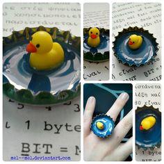 the duck in the pond by mel--mel.deviantart.com on @deviantART