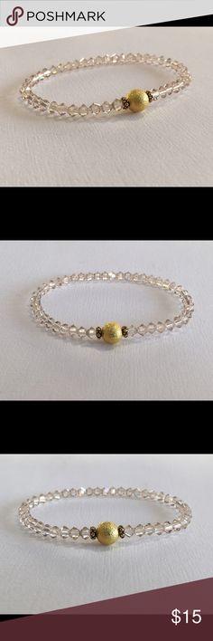 🌟Swarovski™ Crystal Beaded Bracelet Stretch🌟 Swarovski Silk Crystal Stretch bracelet.  Fits average size wrist.  Safe to bath, swim and wear 24/7!  Bundle stack with our other fabulous colors!!! Swarovski Jewelry Bracelets