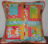 Joanie's Quilts - Modern Quilt Block Pillow