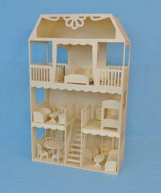 DIY Maison AUDE 1/12ème Minicrea. Avec meubles.