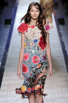 Bruna Tenorio at Jean Paul Gaultier Haute Couture Spring....love this dress...!!!!!!!!!