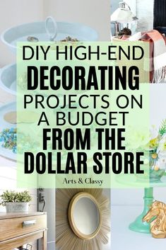 DIY High End Home Decorating on a Budget from The Dollar Store, budget decorating diy di. : DIY High End Home Decorating on a Budget from The Dollar Store, budget decorating diy diyhomedecordollarstore dollar High home store High Home Decorating Dollar Store Hacks, Dollar Store Crafts, Dollar Stores, Diy Home Decor On A Budget, Decorating On A Budget, Decorating Blogs, Diy Apartment Decor, Diy Room Decor