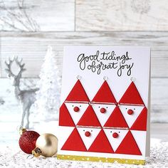 A fun Christmas card with the @simonsaysstamp Perfect Shapes die set…