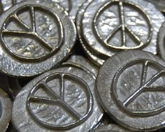 20 Peace Signs Lead-Free Pewter Pocket Peace Coin Token