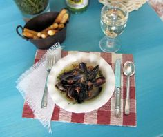 MUSSELS in Buttery White Wine Sauce and Plastic by OneSixthSense, $18.50