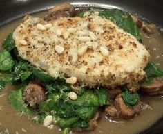 Garlic Mushroom Wine Sauced Chicken and Spinach     Read more at: http://www.food.com/recipe/garlic-mushroom-wine-sauced-chicken-and-spinach-s-283018#?oc=linkback