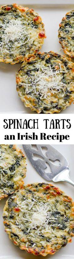 Spinach Tarts - An Irish Recipe from www.savingdessert.com