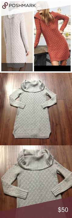 """Sparrow grey sweater dress In excellent condition. Worn just once. Laying flat is 35"""" long.                       f Anthropologie Dresses"""