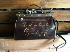 Leather carry on Wolf bag. x 14 x 23 cm / x x KgAt your request, painted leather goods can be personalized by entering the name, monogram, initials or zodiac. Black Leather Briefcase, Calf Leather, Painted Bags, Hand Painted, Leather Handle, Leather Purses, Gladstone Bag, Medical Bag, Painting Leather
