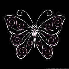 Free shipping on this item within the US! This listing is for one Butterfly iron-on rhinestone transfer made from dazzling Crystal rhinestones