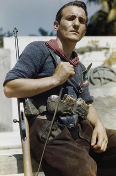 Senor Prigile, an Italian partisan in Florence, 14 August 1944